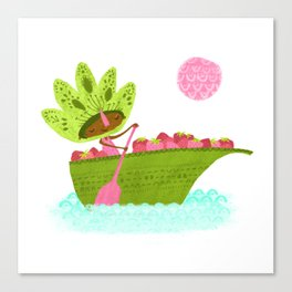 Berry Boat - Tonia Dee Nature Girls Canvas Print