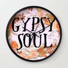 Boho Floral Gypsy Soul Wall Clock
