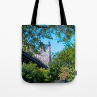 queens of the stone age Tote Bags featuring Queens by Anna Harding