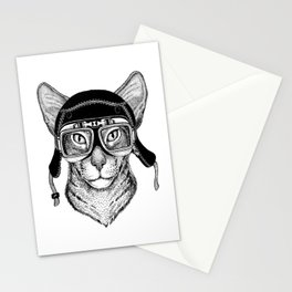 Cat Speed Rebel Stationery Cards