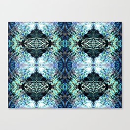 Paua Shell  Inspired Pattern Canvas Print