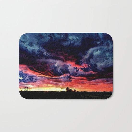 Sunset over the Horizon (Gorgeous Landscape) Bath Mat