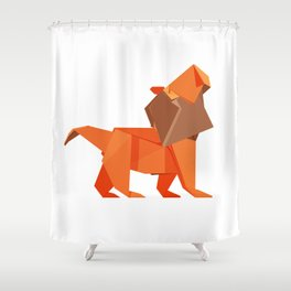 Origami Lion Shower Curtain