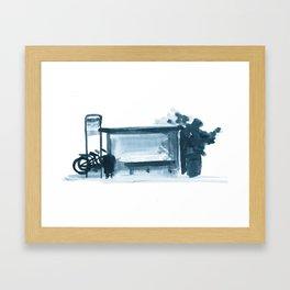Bus Stop Framed Art Print