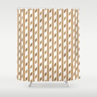 chocolate Shower Curtains featuring Chocolate by HK Chik