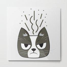 Grumpy Metal Print