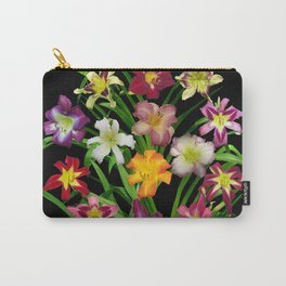 Display of daylilies II on blck Carry-All Pouch