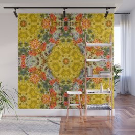Marigold Kaleidoscope Photographic Pattern #1 Wall Mural
