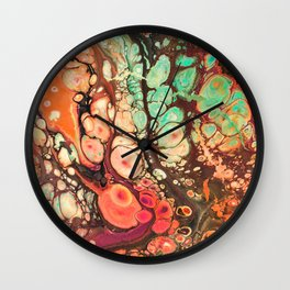 Warm Pastel Wonderland Wall Clock