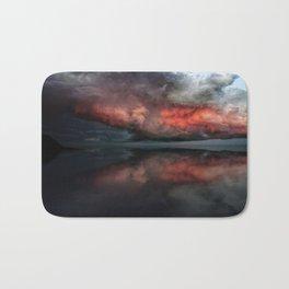 Red cloud reflect Bath Mat
