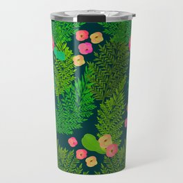 Fern and Flowers Travel Mug