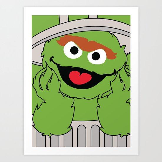 Oscar the Grouch Art Print