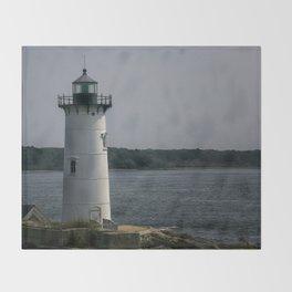 Portsmouth Harbor Lighthouse Throw Blanket
