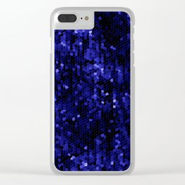 Midnight blue jewel mosaic Clear iPhone Case