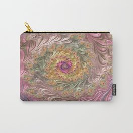 Soft Beautiful Colored Fractal Carry-All Pouch