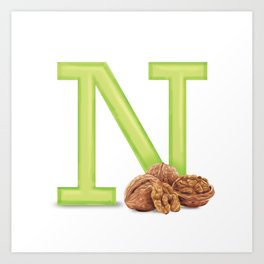 N is for Nuts Art Print