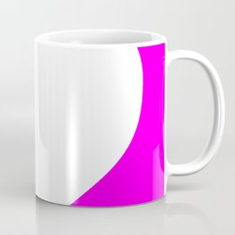 Heart (White & Magenta) Coffee Mug