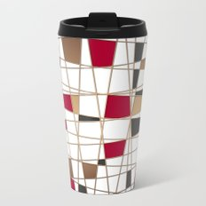 Abstract geometric pattern 3 Metal Travel Mug