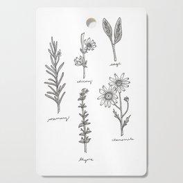 Kitchen Herbs Cutting Board