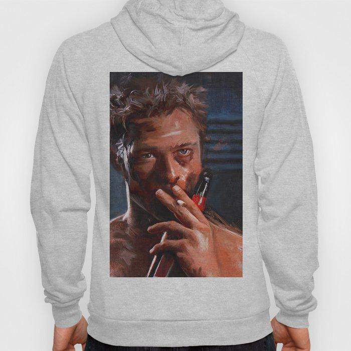 Tyler Durden Shirtless With Beer - Fight Hoody