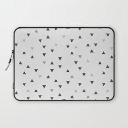 DOWN UP / scandi white / warm grey / flax / lavender Laptop Sleeve