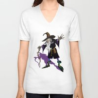wizard V-neck T-shirts featuring Wizard by Noughton