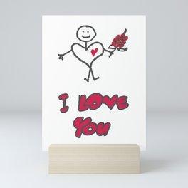 "Heartman ""I Love You"" Mini Art Print"