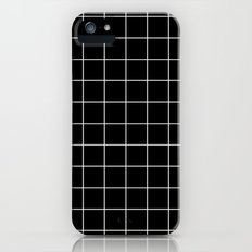 Black White Grid iPhone (5, 5s) Slim Case