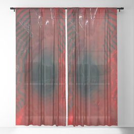 The Red Depth Sheer Curtain