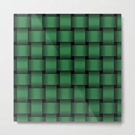 Large Dark Green Weave Metal Print