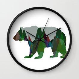 Lonely Jungle Bear Wall Clock