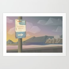 49 Miles of Awesome Art Print