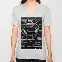 Circuit, tech electronics Unisex V-Neck