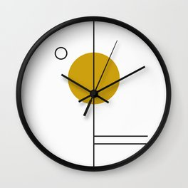 SPACCE 03// GEOMETRIC PASTEL MINIMALIST ILLUSTRATION Wall Clock