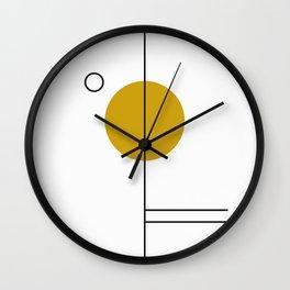 SPACCE 03// GEOMETRIC PASTEL MINIMALIST ILLUSTRATION Wall Clock