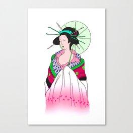Umbrella Lady Canvas Print