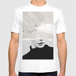 minimal collage /silence T-shirt