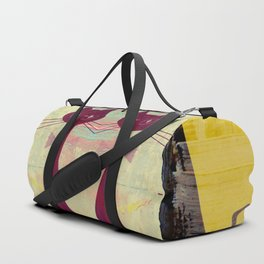Mid-Century Modern Art 4 Cats - Graffiti Style Duffle Bag