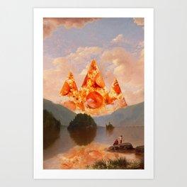 PIZZA MOUNTAINS Art Print