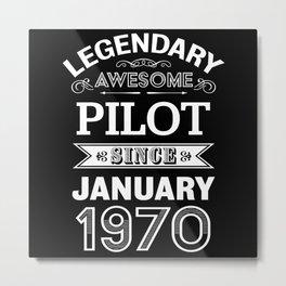 Pilot January 1970 50th Birthday Gift Metal Print