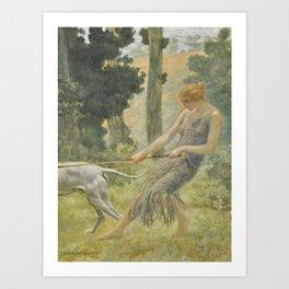 Edward Robert Hughes R.W.S. 1851-1914 THE TRANSFORMATION OF CALLISTO Art Print