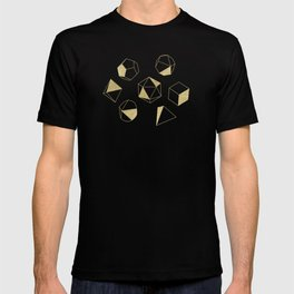 Dice Outline in Gold + Brown T-shirt