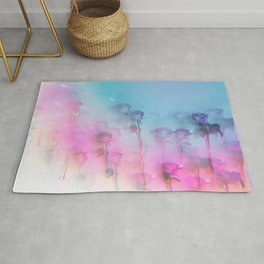 Pretty Pink Roses Rug