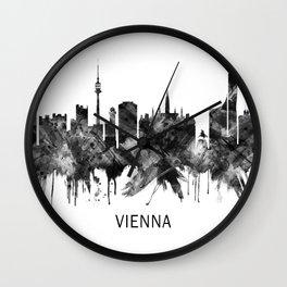 Vienna Austria Skyline BW Wall Clock