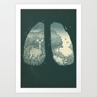 lungs Art Prints featuring Lungs by Herds of Birds