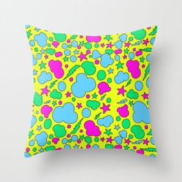 Candy chaotic storm Throw Pillow