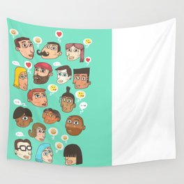 emoji talk Wall Tapestry