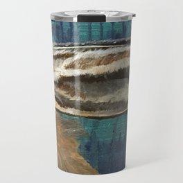 Hare on Blue Travel Mug
