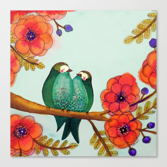 feather bellies Canvas Print