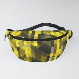 abstract composition in yellow and grays Fanny Pack